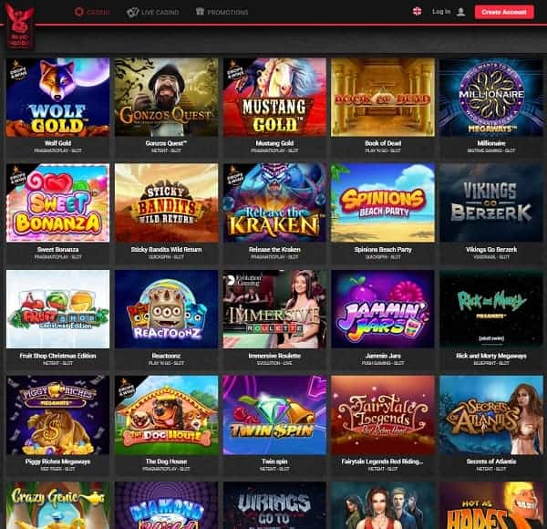 Homepage of Royal Rabbit Casino