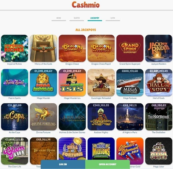 Cashmio Casino Online & Mobile Review