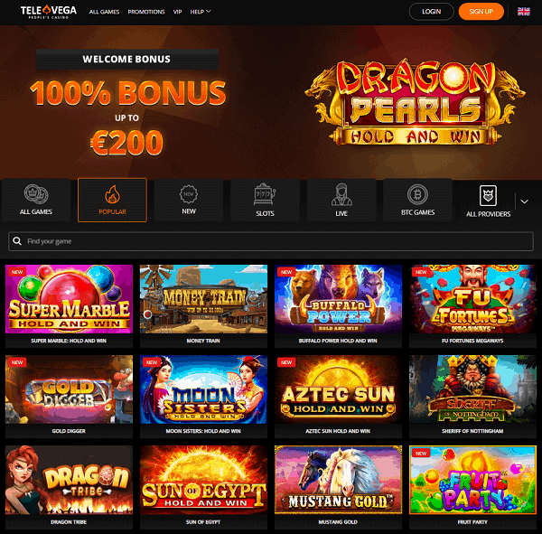 100% welcome bonus and 100 free spins on 1st deposit