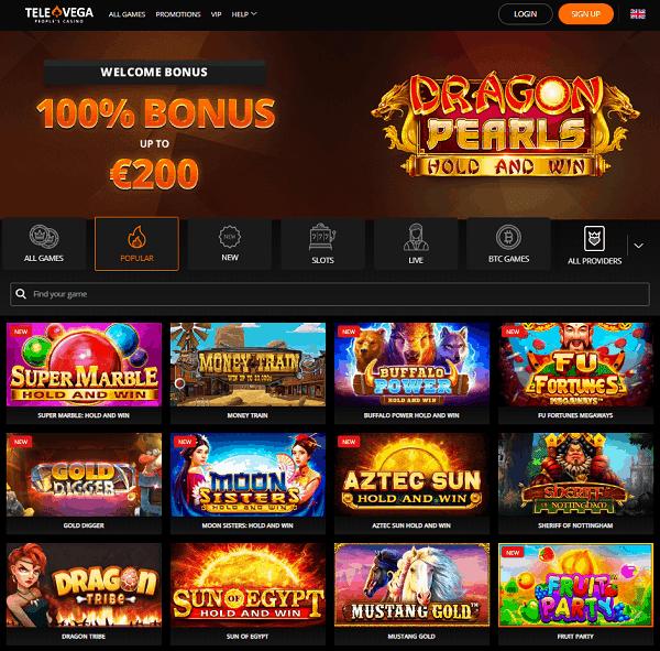 TeleVega online casino overview