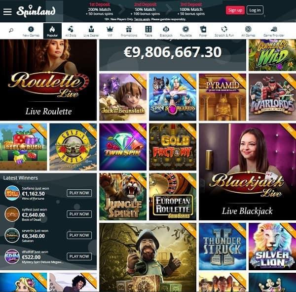 SpinLand.com Casino Review & Rating