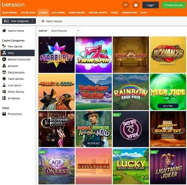 Exclusive online casino games