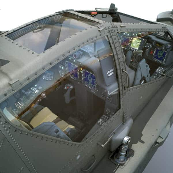 9025 Boeing AH 64D Apache Longbow Helicopter with Cockpit
