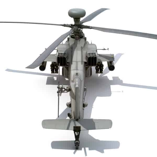 9041 Boeing AH 64D Apache Longbow Helicopter with Cockpit