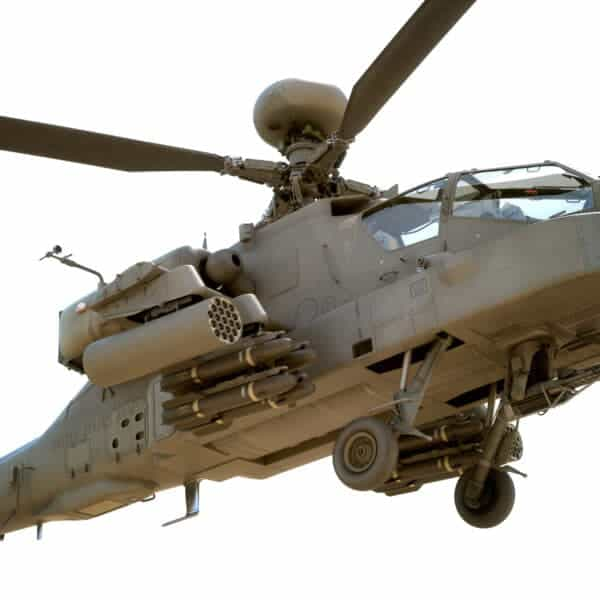 9047 Boeing AH 64D Apache Longbow Helicopter with Cockpit