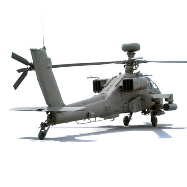 9061 Boeing AH 64D Apache Longbow Helicopter with Cockpit