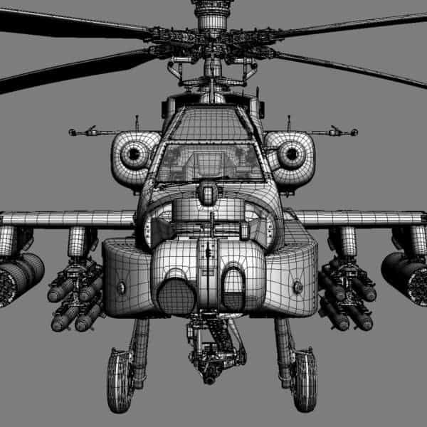 9080 Boeing AH 64D Apache Longbow Helicopter with Cockpit