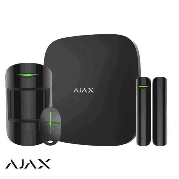 ajax draadloos alarmsysteem set woning klein zwart