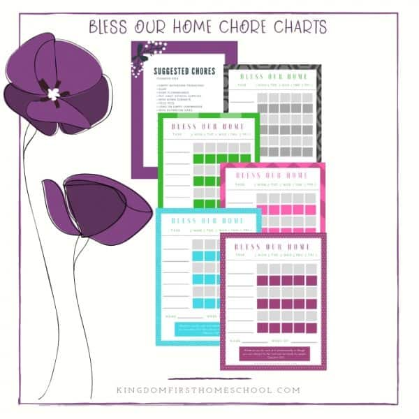 Bless Our Home Chore Charts for Kids