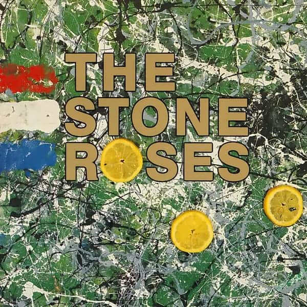 The Stone Roses album cover inspired by the work of Jackson Pollock, 1989