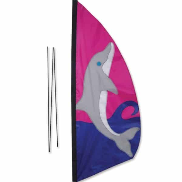 Recumbent Bike Feather Banner - Dolphin