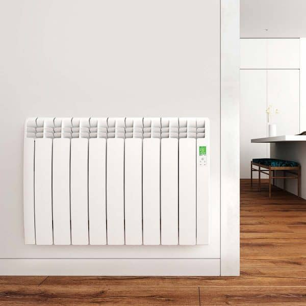 Rointe D Series radiator aluminium oil filled with wifi capability in white