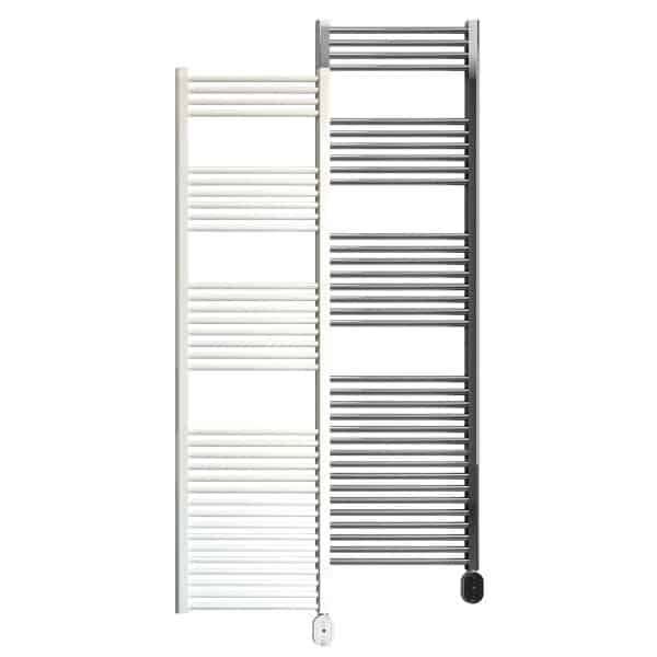 Rointe Elba Oval electric towel rail 1000W in white or chrome