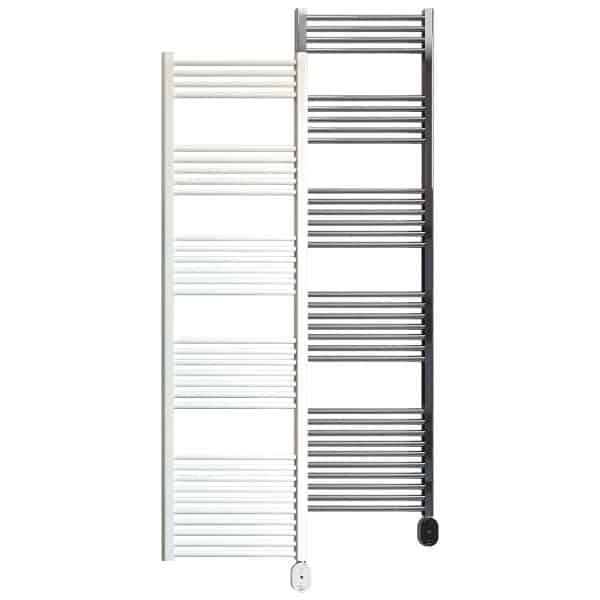 Rointe Giza Oval electric towel rail 750W in white or chrome