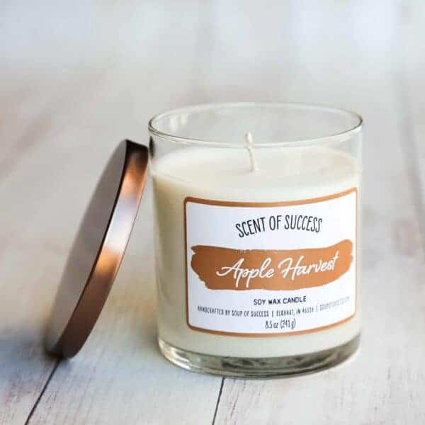 Open Soup of Success Apple Harvest Soy Candle