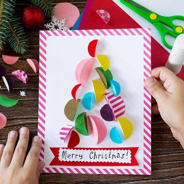 custom christmas card tutorial