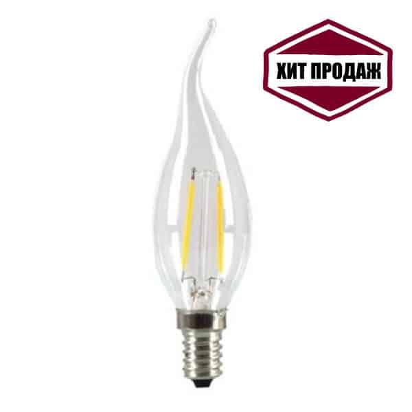 Светодиодная лампа нитевидная E14 5Ватт