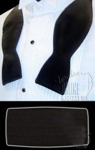 Cummerbund With Self Tie Bow Tie