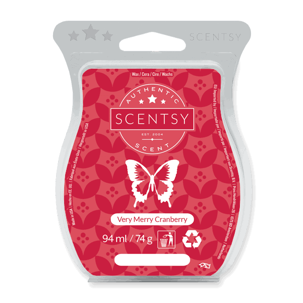 VERY MERRY CRANBERRY SCENTSY WAX BAR