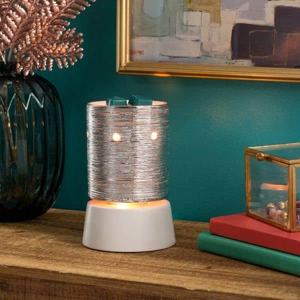 Etched Core – Silver Scentsy Tabletop Mini Warmer