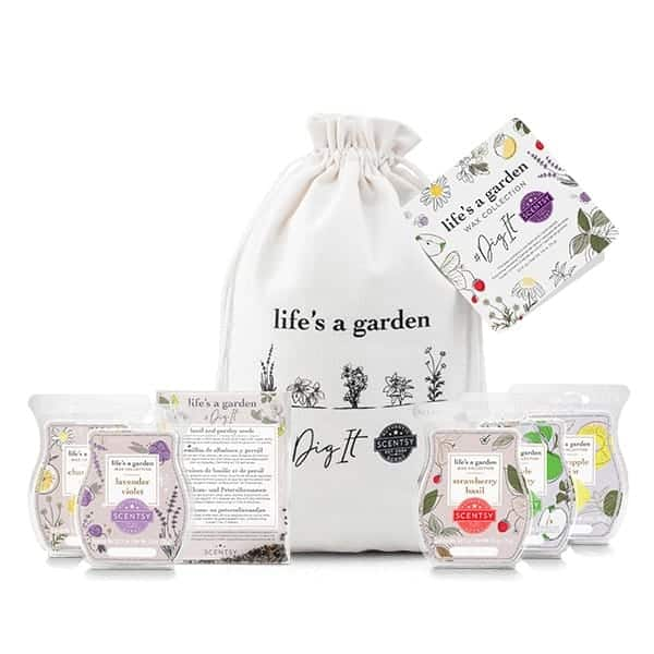 life is a garden scentsy collection of wax melts