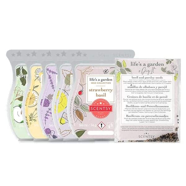 five stunning wax bars from scentsy all garden smells