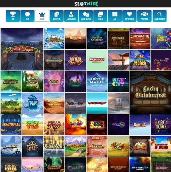 Slot Nite Casino Free Spins Bonus
