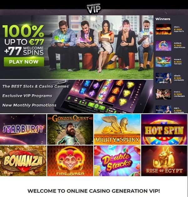 GenerationVIP Casino Review