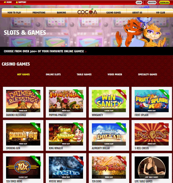 Cocoa Casino Review Page