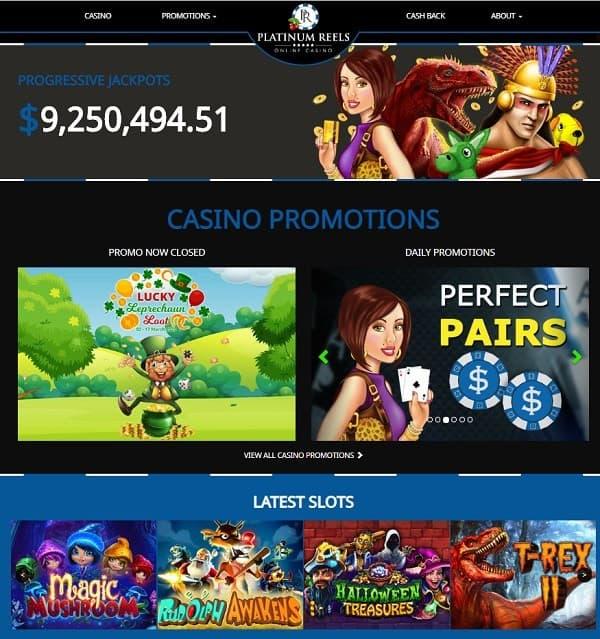 Platinum Casino free spins bonus