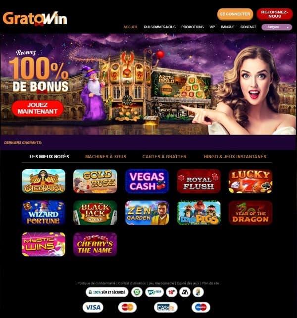 GratoWin.com Casino Review