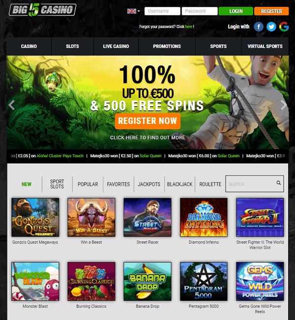 Big5 Casino 5 Free Spins