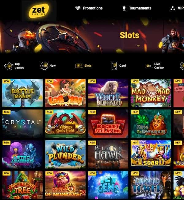 Zet Casino play to win jackpots