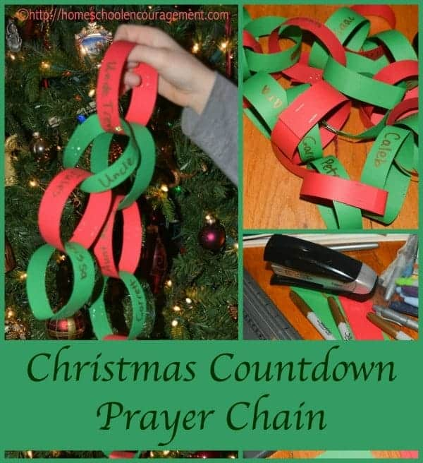 Are you looking for a new Christmas tradition? Try a Christmas Countdown Chain that will lead you to pray for those you love. Take a look at this post for more details on how you and your kids can add this to your family traditions.