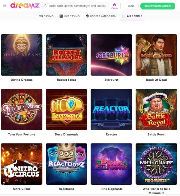 Dreamz Casino gratis spins