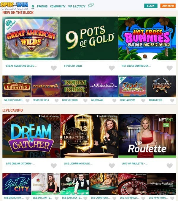 Spin And Win Casino Review
