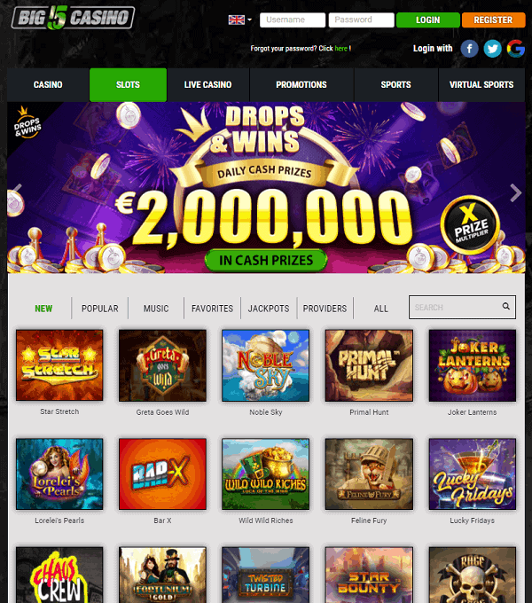 Big 5 Casino 500 free spins