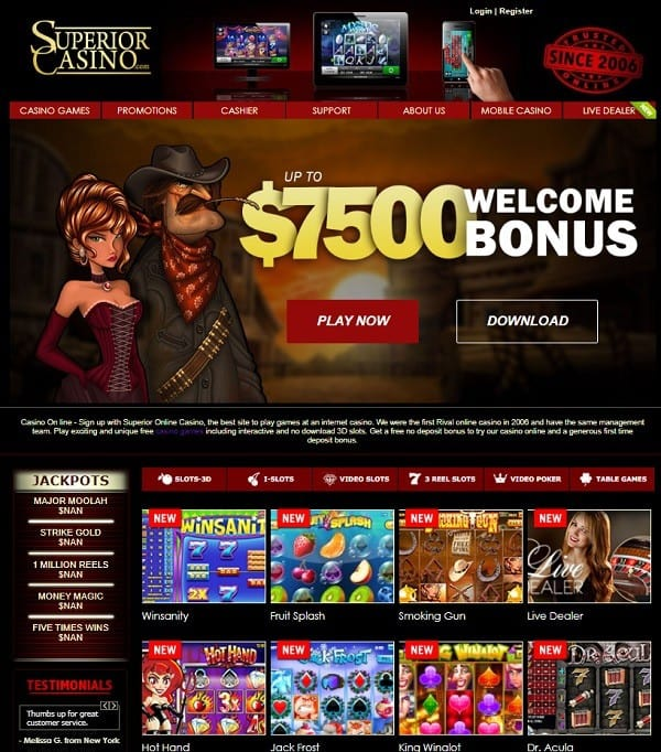 Superior Casino Online free bonus