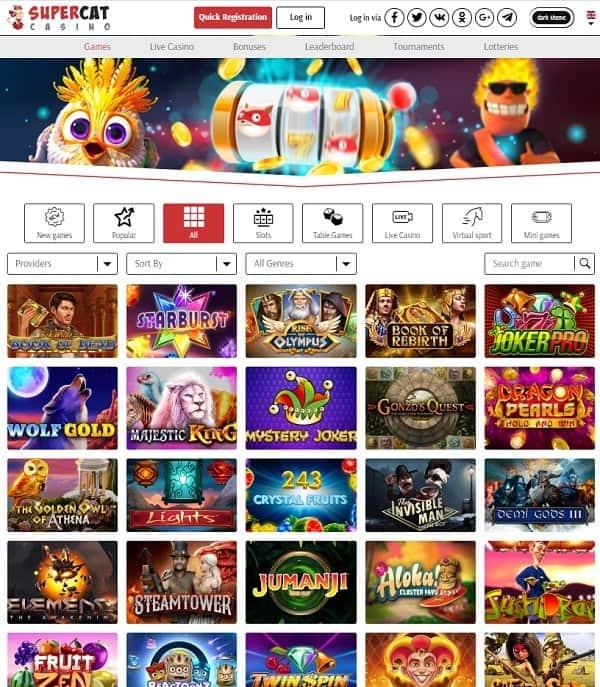 SuperCat Casino Review