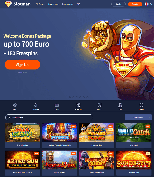 700 EUR and free spins for new players