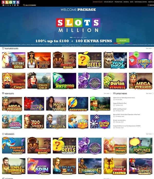 Slots Million Casino - Review & Rating