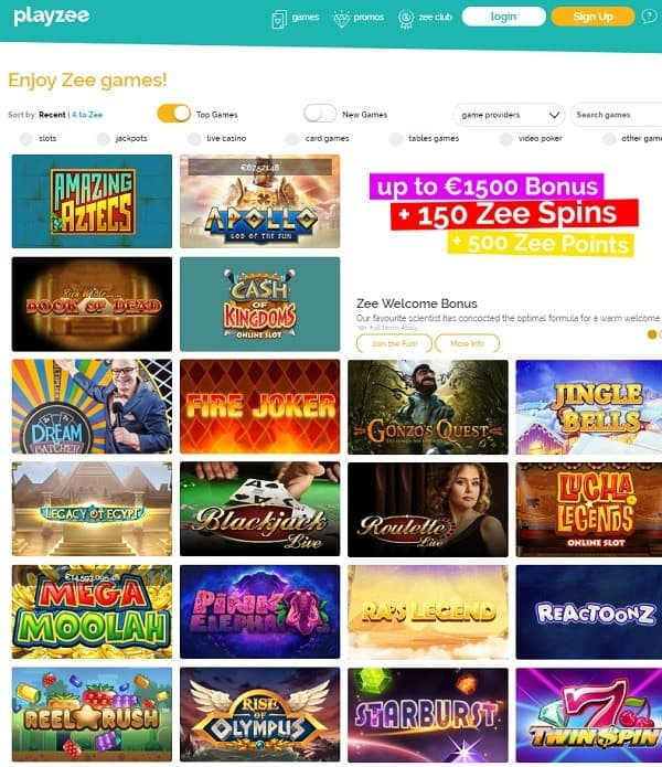 Playzee Casino online and mobile
