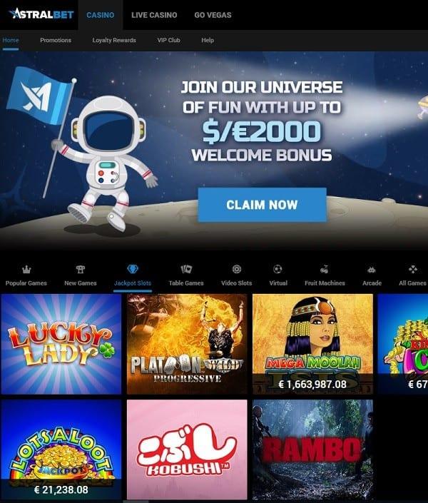 AstralBet Casino free play games