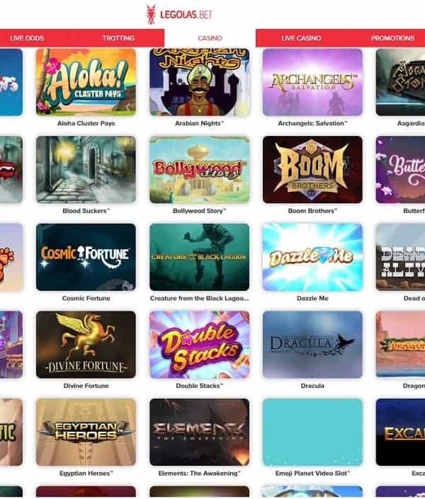Legolas Casino online and mobile review