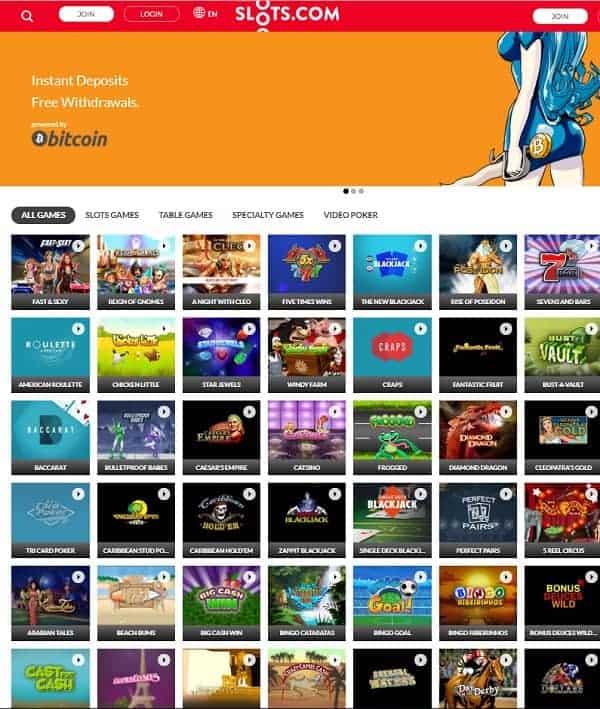 Slots.com Welcome Bonus