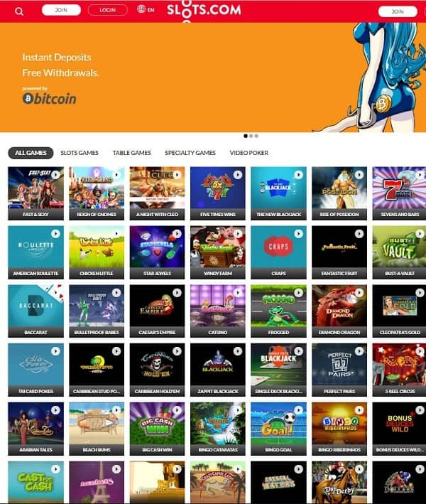 Slots.com Casino review