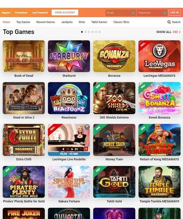 LeoVegas Online Slots, Live Dealer, Sports