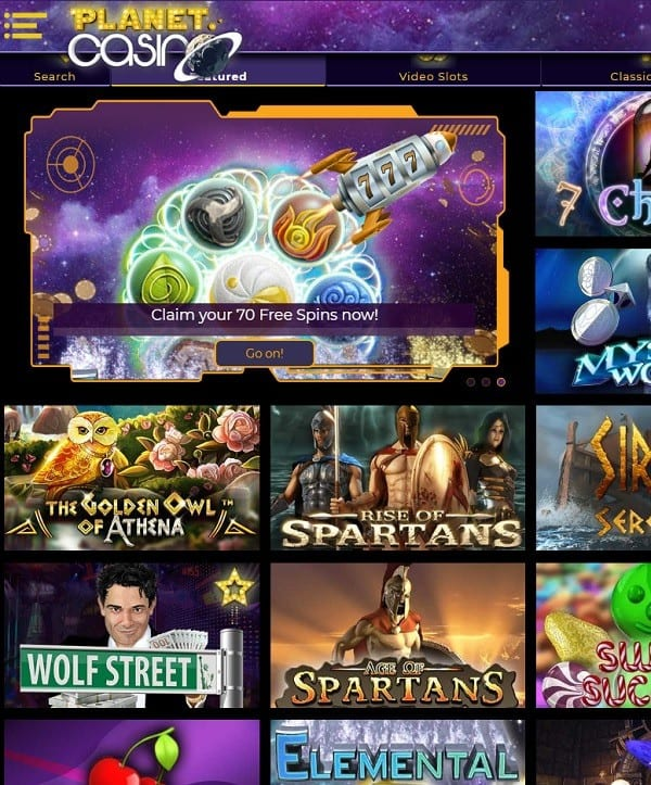 Planet Casino review