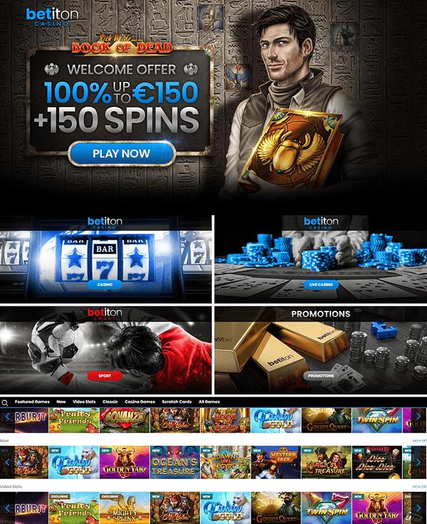 Betiton Casino, Live Dealer, Sportsbook, Scratch Cards