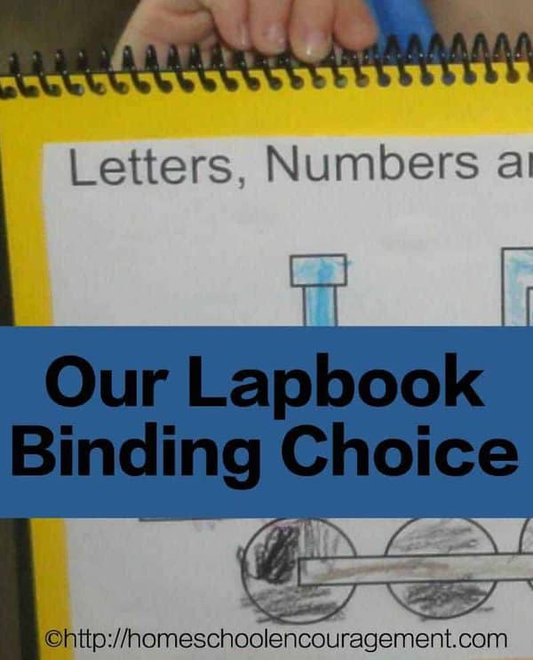Using file folders is a popular solution for lapbooks; it's just not a favorite in our home.  My solution: having them spiral bound.  The end result: an inexpensive, easily storable, and more protected lapbook.